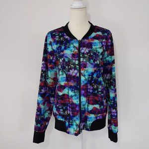 Athleta Floral Fade Bombtastic Jacket Zip Up XL